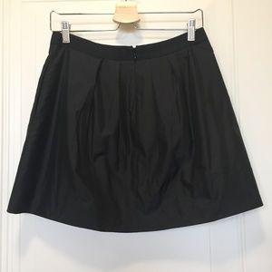 J.Crew Black Pleated Mini-skirt. Size 4.
